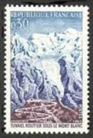 France N° 1454 ** Inauguration Du Tunnel Sous Le Mont-Blanc - France