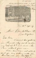 Autriche - Vienne -  Lettre Illustrée Du 16 Septembre 1889 - Hôtel Métropole.Wien. - Autriche