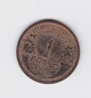 1 Franc Afrique Occidentale Française 1944  TTB à Nettoyer - Colonies
