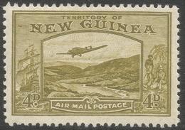 New Guinea. 1932 Air. Bulolo Goldfields. 4d MH. SG 217 - Papua New Guinea