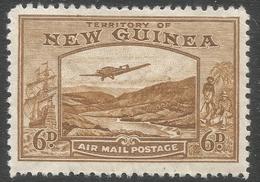 New Guinea. 1932 Air. Bulolo Goldfields. 6d MH. SG 219 - Papua New Guinea