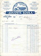 11.AUDE.LEZIGNAN-CORBIERES.COMPGNIE LANGUEDOCIENNE DE TRANSPORTS.AUGUSTE SOULA AVENUE DE LA GARE. - Transports