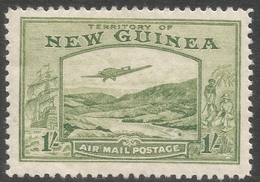 New Guinea. 1932 Air. Bulolo Goldfields. 1/- MH. SG 221 - Papua New Guinea