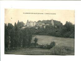 CP  -VILLENEUVE DE BLAYE (33) CHATEAU ESCALETTE - France