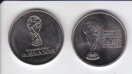 LOTE DE 2 MONEDAS DE RUSIA DE 25 RUBLOS DEL MUNDIAL DE FUTBOL DEL AÑO 2018 (FOOTBALL) - Rusia
