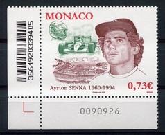 RC 7105 MONACO N° 2709 AYRTON SENNA COURSES AUTOMOBLIES EMIS EN 2010 NEUF ** - TB - Monaco