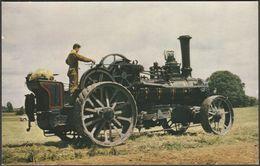 Fowler Ploughing Engine NR 1212 - Salmon Postcard - Postcards