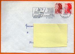 51 REIMS  SECOURS POPULAIRE  1984 Lettre Entière N° HH 716 - Maschinenstempel (Werbestempel)