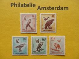 Turkey 1967, FAUNA BIRDS RAPTORS GREIFVOGEL ROOFVOGELS RAPACES: Mi 2070-74,  ** - Arends & Roofvogels