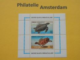 Turkey 1989, FAUNA TURTLES SCHILDPADDEN SCHILDKROTE TORTOISES TORTUES : Mi 2871-72, Bl. 28, ** - Schildpadden