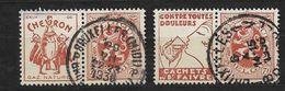 PUB Heraldieke Leeuw70 C, Chevron, Faivre, Nrs 41 En 42, Gebruikt - Publicités