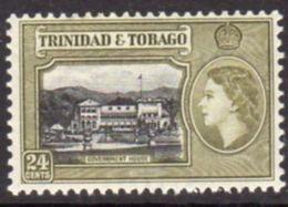 Trinidad And Tobago 1953-9 24c Black & Green-olive Shade Definitive, MNH, SG 275b - Trinidad & Tobago (...-1961)