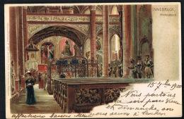 INNSBRUCK -AUSTRIA  -Litho Hofkirche  - Voyagée 1900 - Recto Verso - Paypal Free - Autres