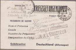 ST-CHRISTOLY-DE-BLAYE 1941 Sur Carte Correspondance Prisonnier De Guerre STALAG V.C - Retour... Camp Approvisionné... - Postmark Collection (Covers)