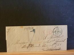 74/958 LETTRE  1834 DE PARIS POUR STRASBOURG AVEC CONTENU  + CACHET ID EN ROUGE - 1801-1848: Précurseurs XIX