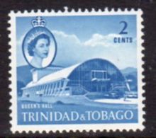 Trinidad And Tobago 1960-7 2c Blue Queen's Hall Definitive, MNH, SG 285a - Trinidad & Tobago (...-1961)