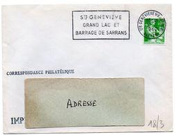 AVEYRON - Dépt N° 12 = Ste GENEVIEVE S/ ARGENCE 1962 = FLAMME Non Codée = SECAP ' GRAND LAC / BARRAGE SARRANS ' - Marcofilia (sobres)