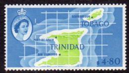 Trinidad And Tobago 1960-7 $4.80 Map Of Islands Definitive, MNH, SG 297 - Trindad & Tobago (...-1961)