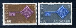 1968 ANDORRA FRANCESE SET MNH ** - Andorra Francese