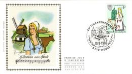 """BELGIQUE 2100 FDC 1er Jour Hommage à """" Tineke Von Heule """" Chanson Populaire De René De Clercq Tinekefeesten 03 - Celebrations"""