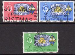 Trinidad And Tobago 1964 Girl Guides Jubilee Set Of 3, Used, SG 308/10 - Trinidad & Tobago (...-1961)