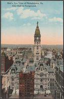Bird's Eye View Of Philadelphia, Pennsylvania, C.1915 - Post Card Distributing Co Postcard - Philadelphia