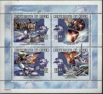NIGER, 2000, UPU, SPACE ENGINEERS, YV#1469-72, MNH - Space