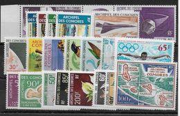 COMORES - POSTE AERIENNE YT N° 15/36 * CHARNIERE TRES LEGERE - MH - COTE = 169 EUR. - Comores (1950-1975)