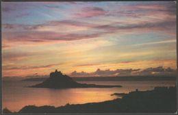 Sunset, St Michael's Mount, Cornwall, C.1970s - Jarrold Postcard - St Michael's Mount