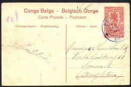 CONGO - ENTIER NR 43 - BPCVPK NR 12 1917  Vers UK  - TL3 - Stamped Stationery