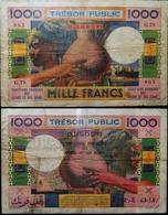 Billet 1000F DJIBOUTI Oeuvre De R. POUGHEON / Graveurs A. MARLIAT, R. ARMANELLI - Djibouti