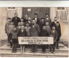 Conselice Anni 30, Vecchia Foto Giovani Contadini Del Corso Di Agricoltura Della Cattedra Ambulante. - Mestieri