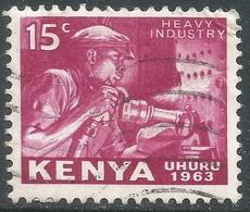 Kenya. 1963 Independence. 15c Used. SG 3 - Kenya (1963-...)