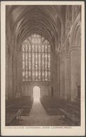 Nave, Looking West, Gloucester Cathedral, Gloucestershire, C.1910 - Davies & Son Postcard - Gloucester
