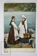 Old Postcard - Ladies In Traditional Dress - Possibly Serbian Women - Postales