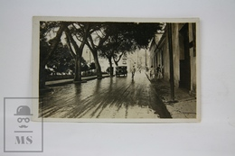 Old Real Photo Postcard - Unknown Place - Animated - Circa 1920's - Old Car - Postales