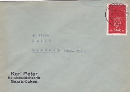 Sarre Saar Saarbrücken Brief 1952 Lettre à Entête Karl Peter - Lettres & Documents