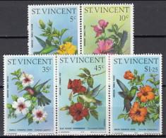 St Vincent 1976 (MNH) - Blue-headed Hummingbird....Purple-throated Carib...Green-throated Carib - Hummingbirds