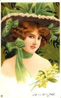 [DC11582] CPA - DONNA CON CAPPELLO - PERFETTA - Viaggiata 1901 - Old Postcard - Illustratori & Fotografie