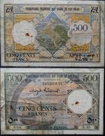 Billet 500F DJIBOUTI - Oeuvre De LORAIN / Graveurs R. ARMANELLI, G. REGNIER - Djibouti