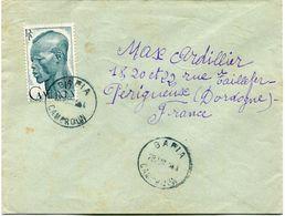 CAMEROUN LETTRE DEPART BAFIA 28 JUIN 54 CAMEROUN POUR LA FRANCE - Cameroun (1915-1959)