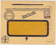 GERMANY LUXEMBURG 1941 (8.7.) REVISED ENV.(Agro/Forestry Accident Ins.) USED PRINT. Mi 1 - Allemagne