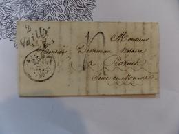 15.02.18_ LAC A Voir! Grand Fragment, Cursive!!  Taxe Tampon De 1836 - Postmark Collection (Covers)