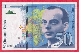 """50 Francs """"St Exupéry"""" 1997 N ° E.038610044 .....AU-UNC/SPL+ - 1992-2000 Last Series"""