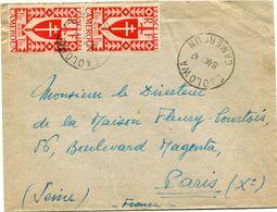 CAMEROUN FRANCE LIBRE LETTRE DEPART EBOLOWA 8 OCT 47 CAMEROUN POUR LA FRANCE - Cameroun (1915-1959)