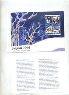 Lettre Fdc 1991 Noel - FDC
