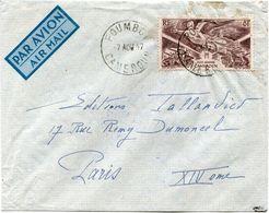 CAMEROUN LETTRE PAR AVION DEPART FOUMBOT 7 AOU 47 CAMEROUN POUR LA FRANCE - Cameroun (1915-1959)