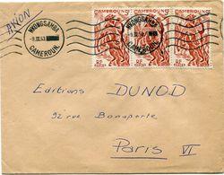 CAMEROUN LETTRE PAR AVION DEPART NKONGSAMBA 9 III 53 CAMEROUN POUR LA FRANCE - Cameroun (1915-1959)