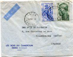 CAMEROUN LETTRE PAR AVION DEPART ESEKA 13 MAI 50 CAMEROUN POUR LA FRANCE - Cameroun (1915-1959)