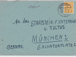 ALLEMAGNE ZONE A.A.S.   LETTRE DE WÜRZBURG - American,British And Russian Zone